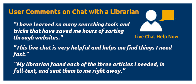 Chat with a Librarian 24/7/365
